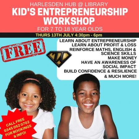 Harlesden Hub Kid's Entrepreneurship Taster
