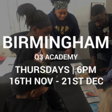 Q3 Academy 16/11 to 21/12